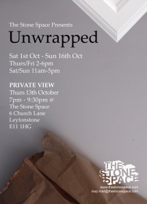 Unwrapped exhibiting @ The Stone Space