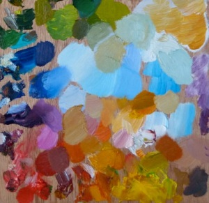 Section of Julie Caves's palette