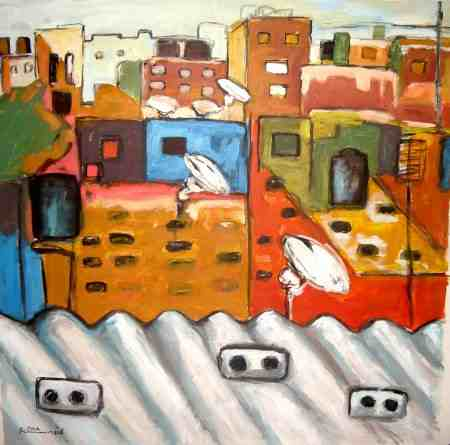 Asbestos: Raed Issa, acrylic on canvas, 2011