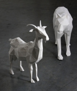 Goat and wolf by Paul and Mark Cummings